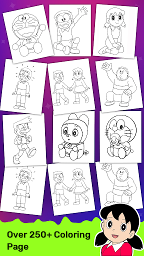 Doraeman Cartoon Coloring: Colour Painting Game 3.3.2 screenshots 7