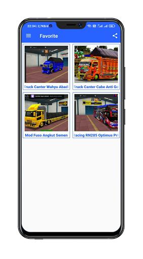 Mod Bussid Truck Wahyu Abadi : 2021 13.0 Screenshots 17