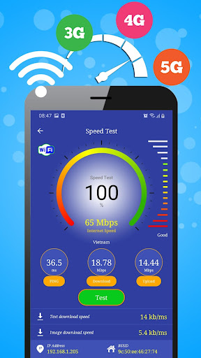WiFi, 5G, 4G, 3G Speed Test -Speed Check - Cleaner Apkfinish screenshots 14