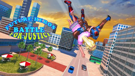 Superhero Captain Robot Games:Black Hole Rope Hero modavailable screenshots 12