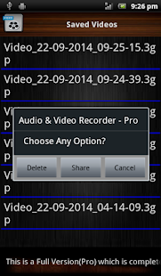Audio and Video Recorder Pro Screenshot