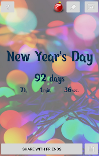 New Year's Day countdown