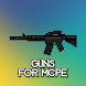 Gun mod for Minecraft. Guns weapons MCPE mods