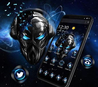 Blue Tech Metallic Skull For Pc – Free Download In Windows 7/8/10 And Mac Os 1