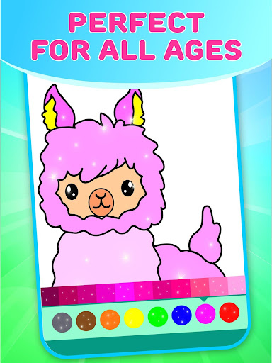 Flower Magic Color-kids coloring book with animals 3.7 screenshots 3
