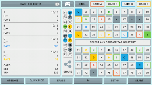 Colorful Keno: Las Vegas Casino Keno 4 Card Keno 1.7 screenshots 6