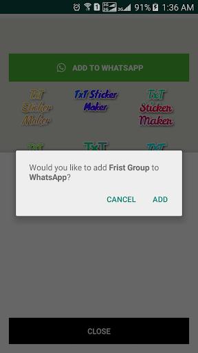 TxT Sticker Maker for WhatsApp u2013 GB WA  Screenshots 2