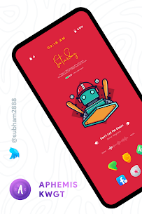 Aphemis KWGT Apk [PAID] for Android 6