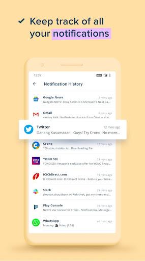 Crono: A Personal Notification Center Companion android2mod screenshots 2