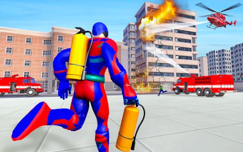 Firefighter Superhero Robot Rescue Mission APK + MOD Download 1