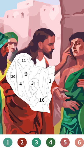 Jesus Coloring Book, Color by Number Paint Games  screenshots 1