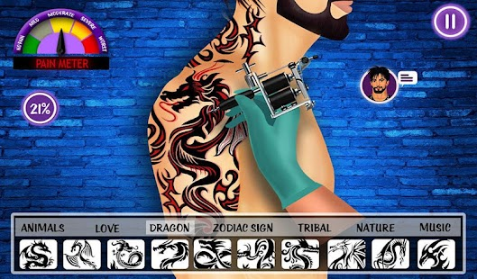 virtuelle Künstler Tätowierer Design Tattoo-Spiele Screenshot
