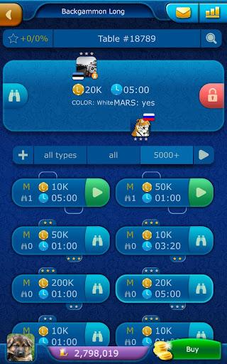 Backgammon LiveGames - live free online game 4.01 screenshots 17