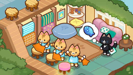 Idle Cat Tycoon : Furniture Craft Shop MOD APK 1.0.3 (Unlimited Gold) 2