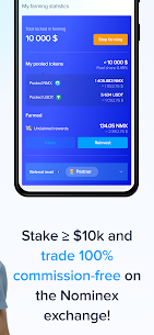 Nominex: Cryptocurrency trading without commission For Android 4