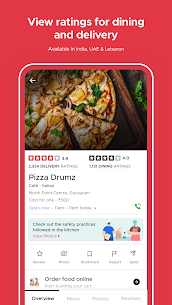 zomato – restaurant finder and food delivery app 4