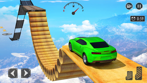 New Mega Ramp Crazy Car Stunts Games modiapk screenshots 1