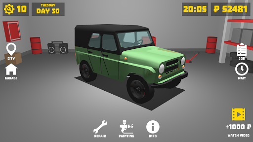 Retro Garage - Car mechanic simulator modavailable screenshots 2