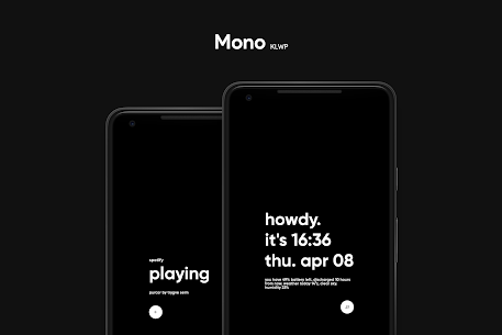 Mono KLWP APK (PAID) Download Latest Version 5