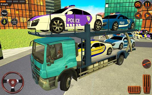 Police Car Transporter Simulator: Truck Driving 3d apkpoly screenshots 2