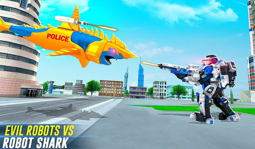 Robot Shark Attack: Transform Robot Shark Games 24 screenshots 11