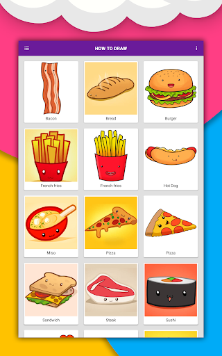 How to draw cute food, drinks step by step 1.6.2 Screenshots 11