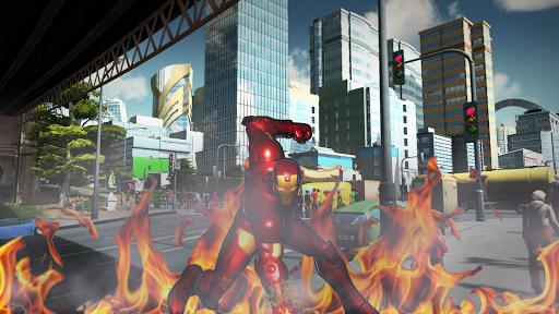 Robot Rope Hero - Firestorm Superhero Crime City android2mod screenshots 5