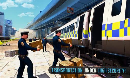 Police Train Shooter Gunship Attack : Train Games  Screenshots 5