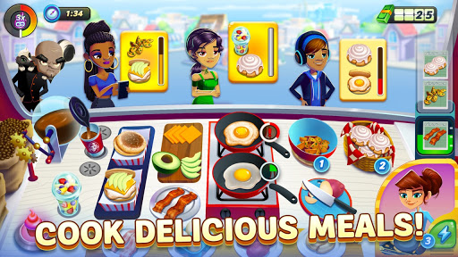 Diner DASH Adventures [Mod] Apk - Trận chiến bữa tối