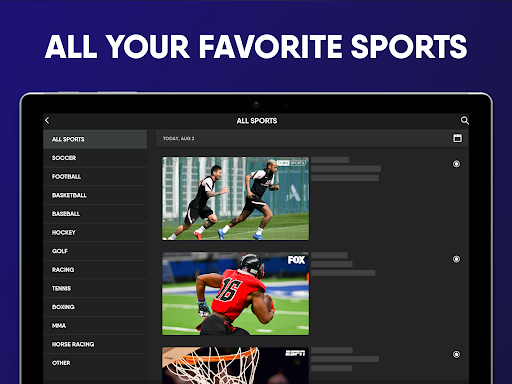 fuboTV: Watch Live Sports, TV Shows, Movies & News screenshots 21