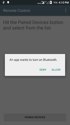 remote control (needs arduino & bluetooth module) screenshot 2