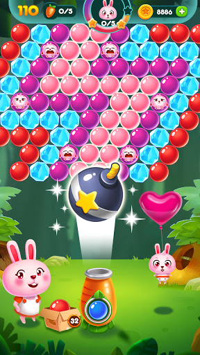 Bubble Bunny: Animal Forest Shooter apkpoly screenshots 1