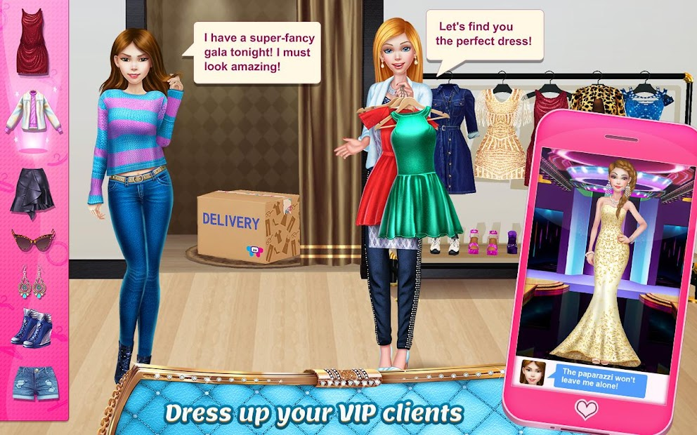 Stylist Girl - Make Me Gorgeous! Android App Screenshot