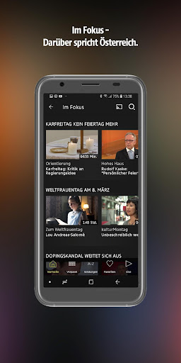 ORF TVthek: Video on demand android2mod screenshots 4