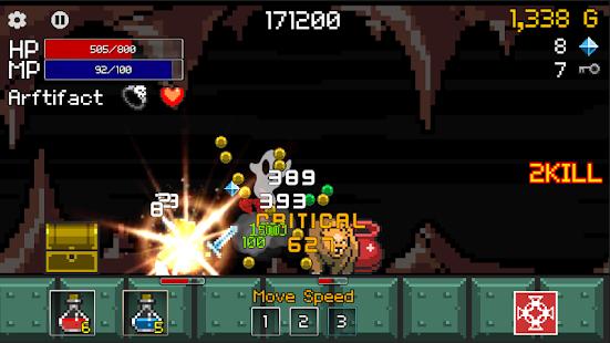 Buff Knight - Screenshot Runner RPG inattivo offline