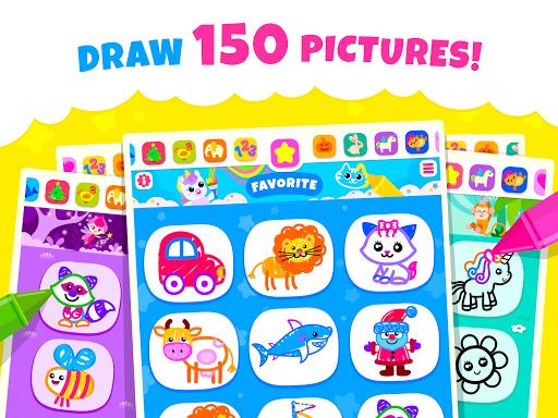 Bini Toddler Drawing Apps! Coloring Games for Kids apktram screenshots 9