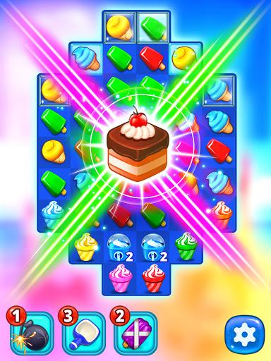 Ice Cream Paradise - Match 3 Puzzle Adventure Apkfinish screenshots 11