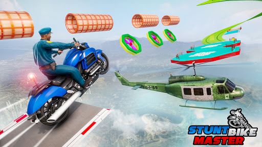 Police Bike Stunt Games: Mega Ramp Stunts Game  screenshots 15