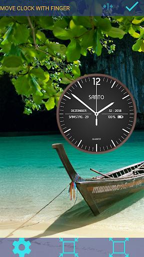 Analog Clock Santo Live Wallpaper modiapk screenshots 1