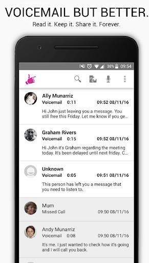 Hullomail - Visual Voicemail, Greetings & Text screenshots 1