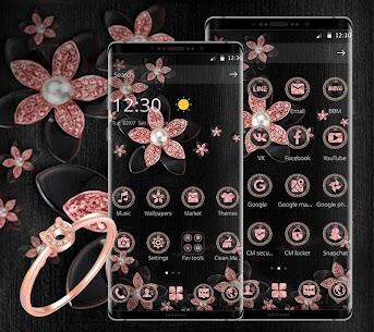 Pink Gold Flower Black For Pc – Windows 10/8/7 64/32bit, Mac Download 2