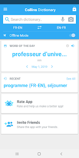 Collins English<>French Dictionary Screenshot