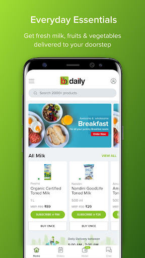 bbdaily: Online Daily Milk & Grocery Home Delivery apktram screenshots 1