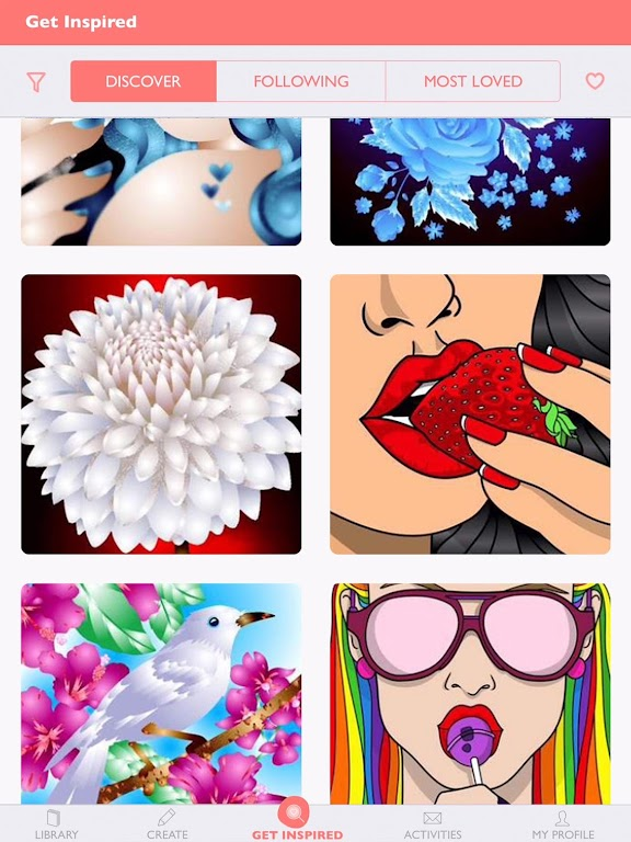 Colorfy: Free Coloring Games - Paint Color Book poster 2