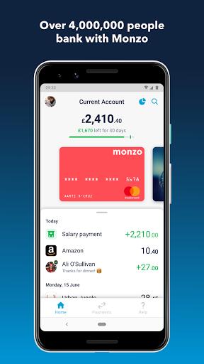 Monzo Bank  screenshots 1