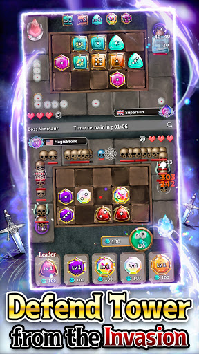 Magic Stone Arena: Random PvP Tower Defense Game  screenshots 1