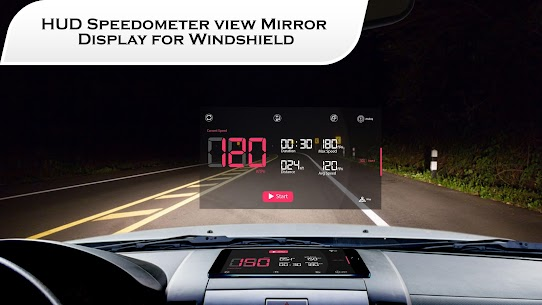 Free HUD Speedometer for Car – Compass Live Speed Meter 4