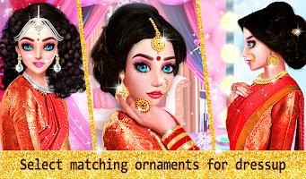 Indian Wedding Designer Sarees Beauty Salon Makeup