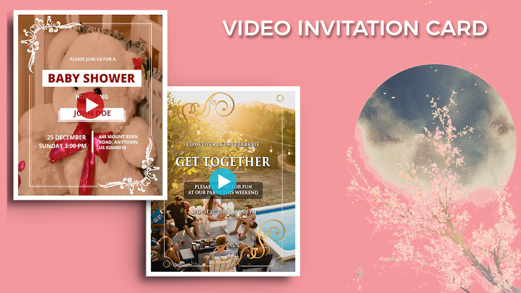 Video Invitation Maker - Create eCards  poster 21