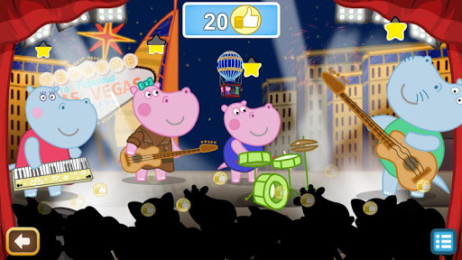 Kids music party: Hippo Super star screenshots 12